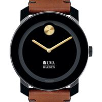 UVA Darden Men's Movado BOLD with Brown Leather Strap