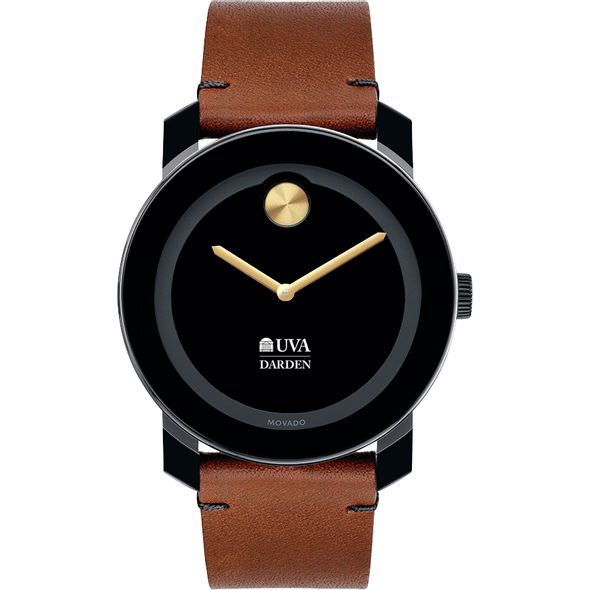 UVA Darden Men's Movado BOLD with Brown Leather Strap - Image 2