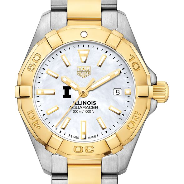 University of Illinois TAG Heuer Two-Tone Aquaracer for Women