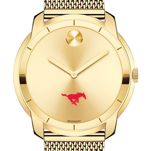 Southern Methodist University Men's Movado Gold Bold 44