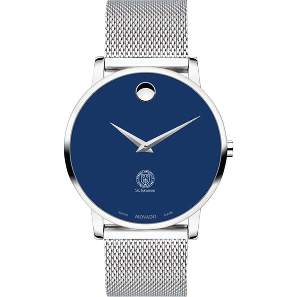 Cornell SC Johnson College of Business Men's Movado Museum with Blue Dial & Mesh Bracelet - Image 2