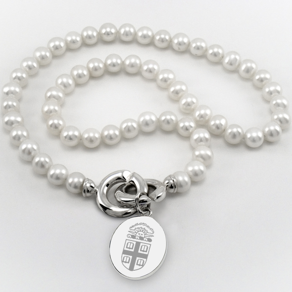 Brown Pearl Necklace with Sterling Silver Charm