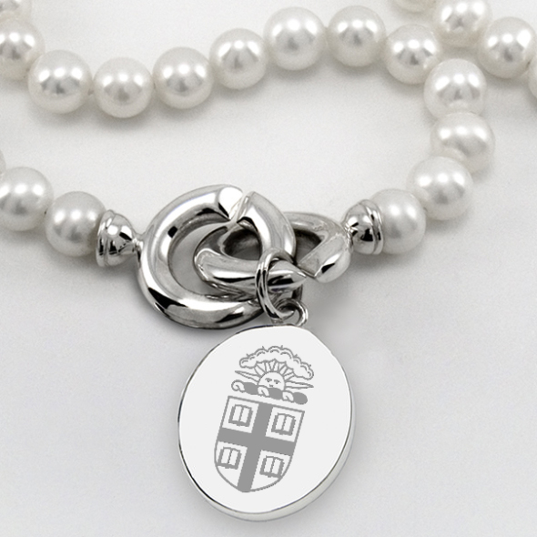 Brown Pearl Necklace with Sterling Silver Charm - Image 2