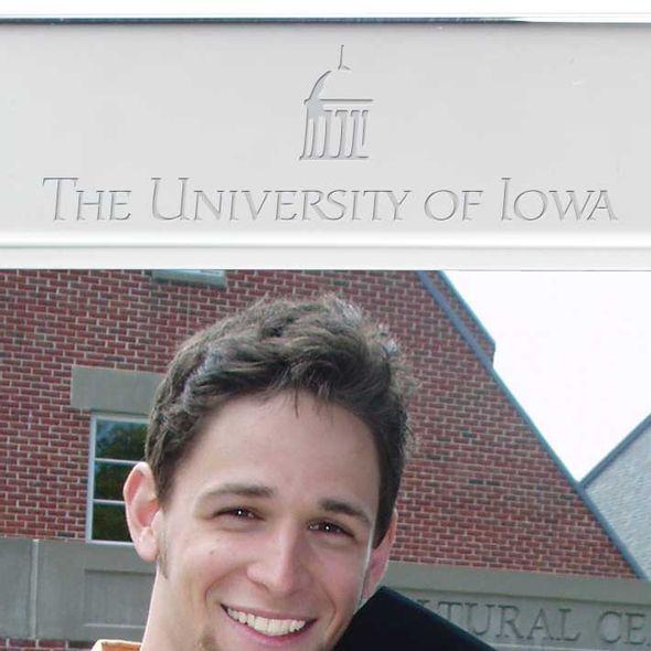 University of Iowa Polished Pewter 5x7 Picture Frame - Image 2