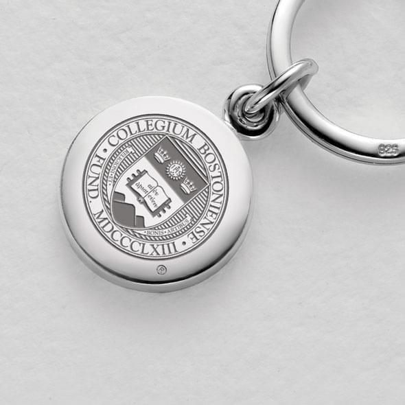 Boston College Sterling Silver Insignia Key Ring - Image 2