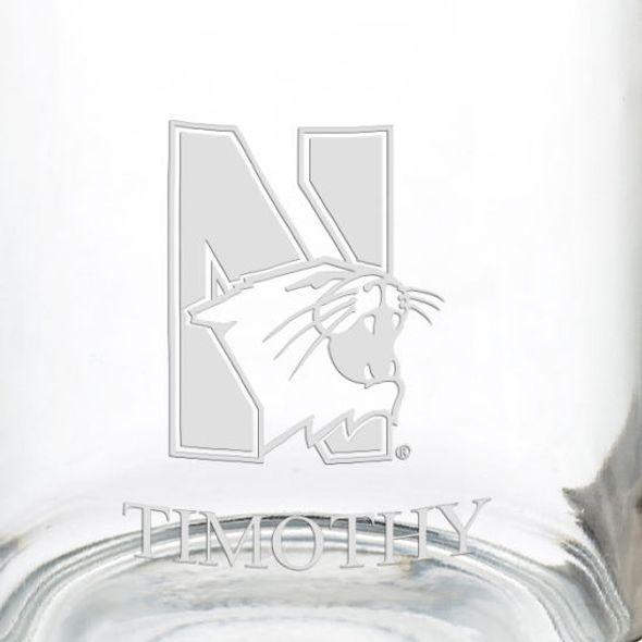 Northwestern University 13 oz Glass Coffee Mug - Image 3