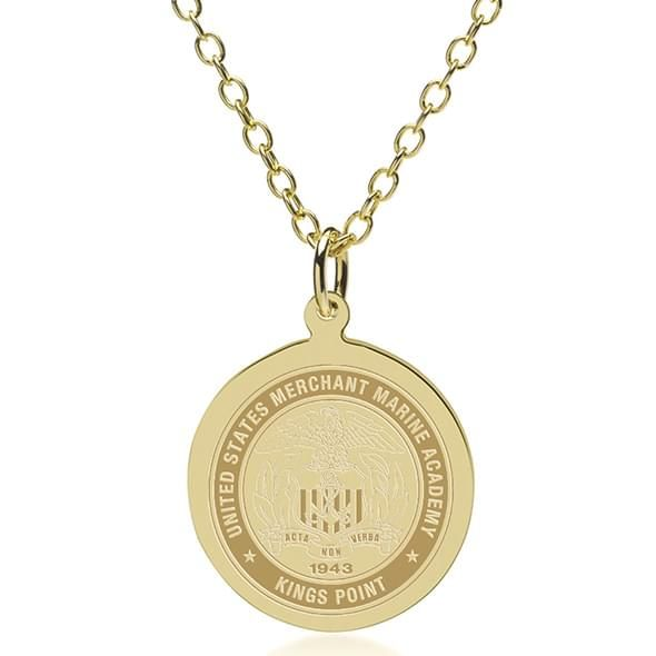 USMMA 18K Gold Pendant & Chain - Image 1