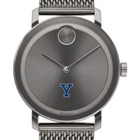 Yale University Men's Movado BOLD Gunmetal Grey with Mesh Bracelet