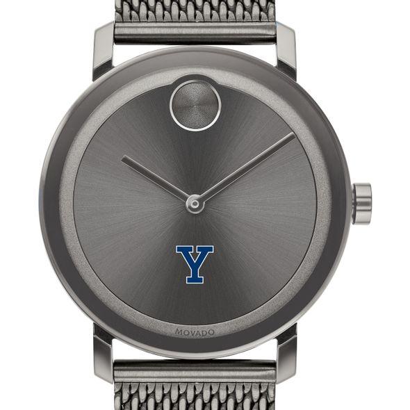 Yale University Men's Movado BOLD Gunmetal Grey with Mesh Bracelet - Image 1