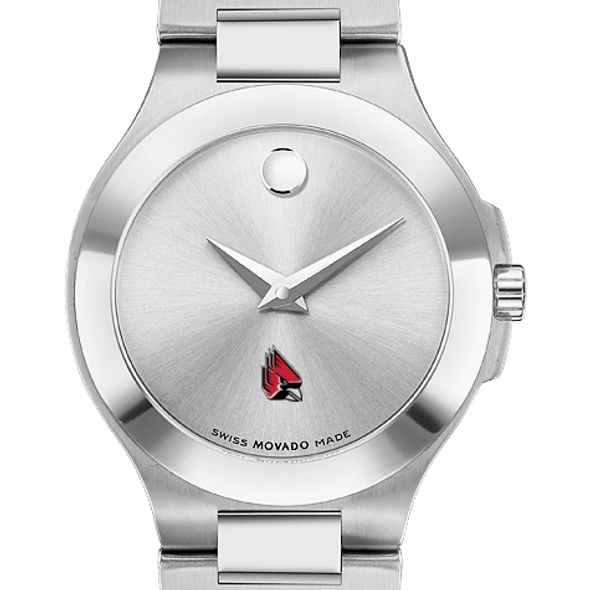 Ball State Women's Movado Collection Stainless Steel Watch with Silver Dial - Image 1