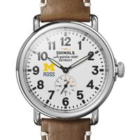 Michigan Ross Shinola Watch, The Runwell 41mm White Dial