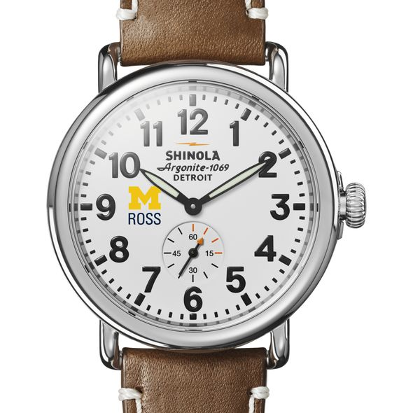 Michigan Ross Shinola Watch, The Runwell 41mm White Dial - Image 1