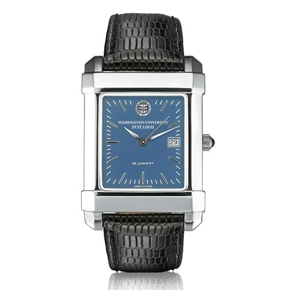 WUSTL Men's Blue Quad Watch with Leather Strap - Image 2