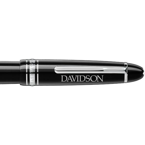Davidson College Montblanc Meisterstück LeGrand Fountain Pen in Platinum - Image 2