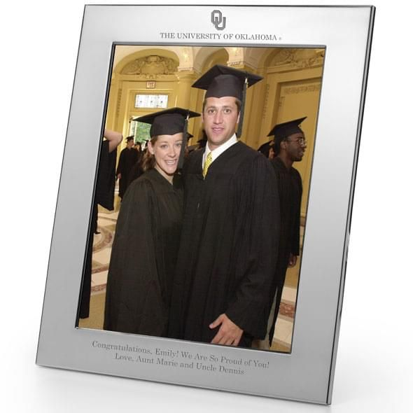 Oklahoma Polished Pewter 8x10 Picture Frame - Image 2
