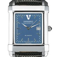 Vanderbilt Men's Blue Quad Watch with Leather Strap