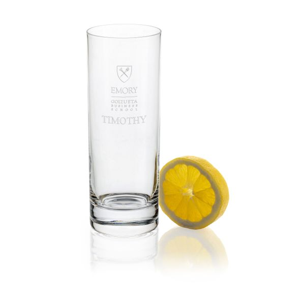 Emory Goizueta Iced Beverage Glasses - Set of 2
