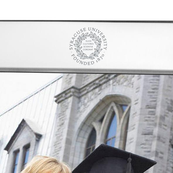 Syracuse University Polished Pewter 8x10 Picture Frame - Image 2