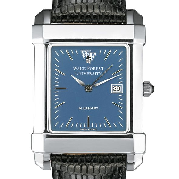Wake Forest Men's Blue Quad Watch with Leather Strap - Image 1
