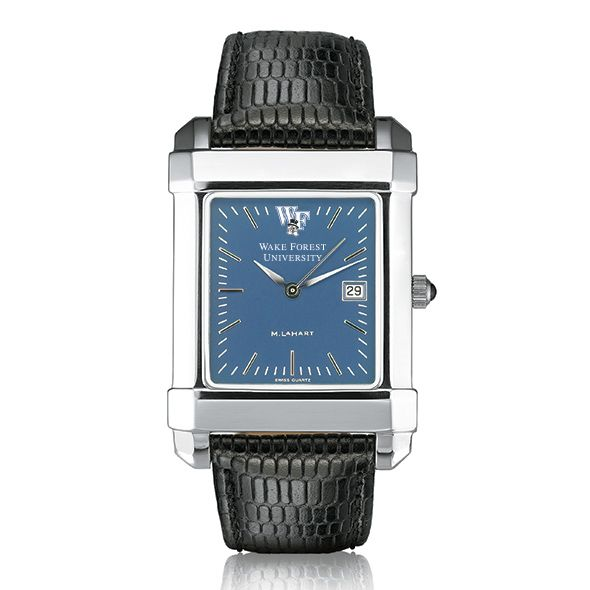 Wake Forest Men's Blue Quad Watch with Leather Strap - Image 2