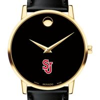 St. John's University Men's Movado Gold Museum Classic Leather