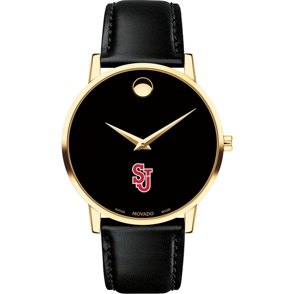 St. John's University Men's Movado Gold Museum Classic Leather - Image 2