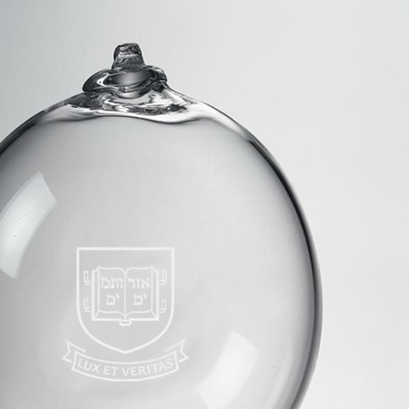 Yale Glass Ornament by Simon Pearce - Image 2