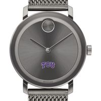 Texas Christian University Men's Movado BOLD Gunmetal Grey with Mesh Bracelet