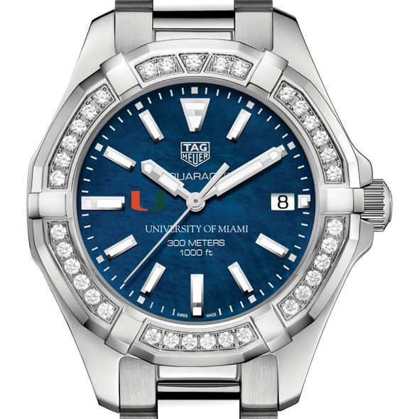 Miami Women's TAG Heuer 35mm Steel Aquaracer with Blue Dial - Image 1
