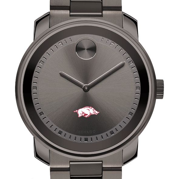 University of Arkansas Men's Movado BOLD Gunmetal Grey