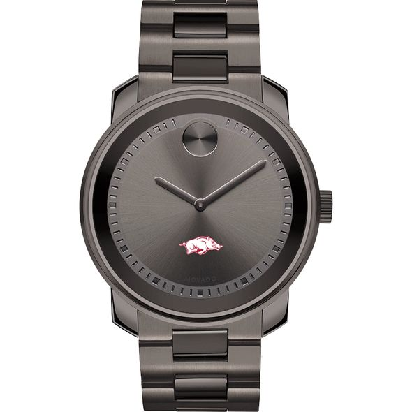 University of Arkansas Men's Movado BOLD Gunmetal Grey - Image 2