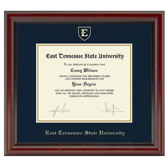 East Tennessee State University Diploma Frame, the Fidelitas - Image 1