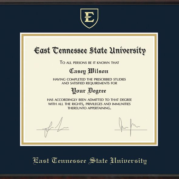 East Tennessee State University Diploma Frame, the Fidelitas - Image 2