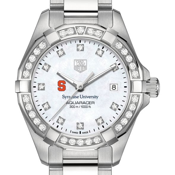 Syracuse University W's TAG Heuer Steel Aquaracer with MOP Dia Dial & Bezel