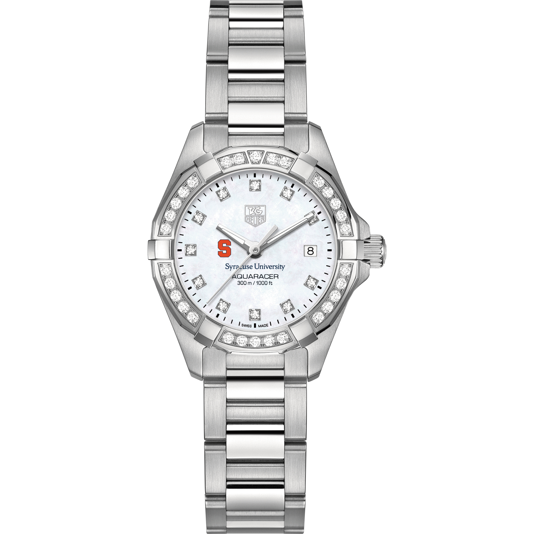 Syracuse University W's TAG Heuer Steel Aquaracer with MOP Dia Dial & Bezel - Image 2