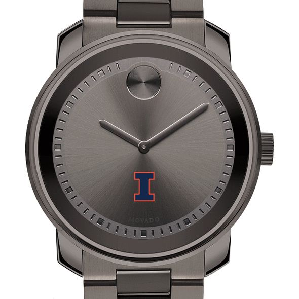 University of Illinois Men's Movado BOLD Gunmetal Grey