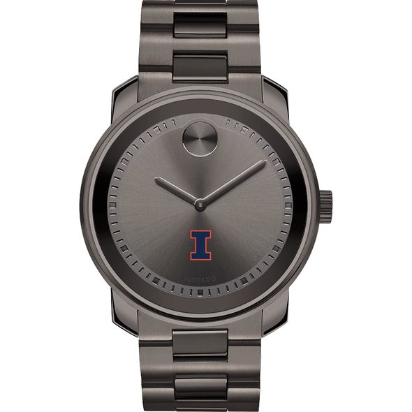 University of Illinois Men's Movado BOLD Gunmetal Grey - Image 2