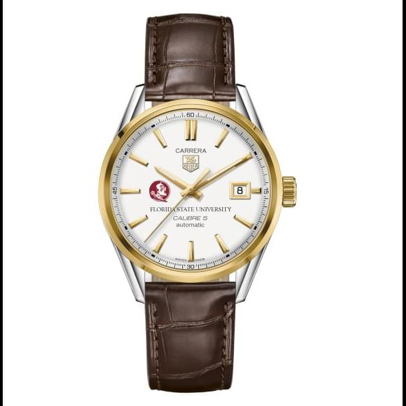 Florida State Men's TAG Heuer Two-Tone Carrera with Strap - Image 2