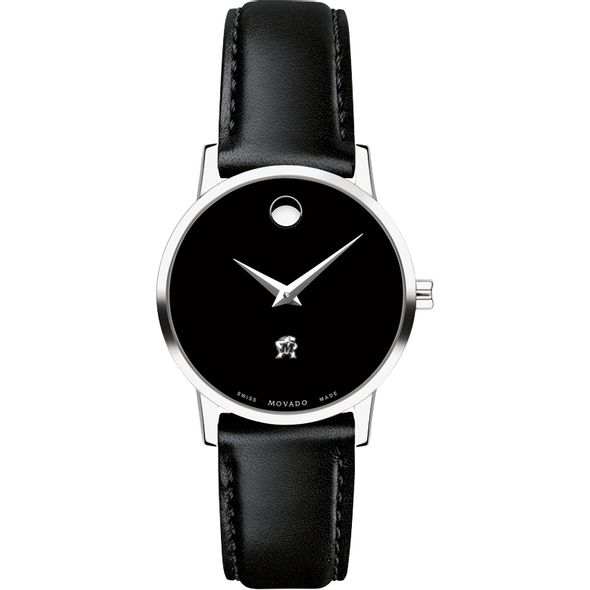 University of Maryland Women's Movado Museum with Leather Strap - Image 2