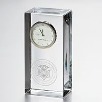 Carnegie Mellon University Tall Glass Desk Clock by Simon Pearce