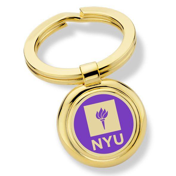 New York University Enamel Key Ring