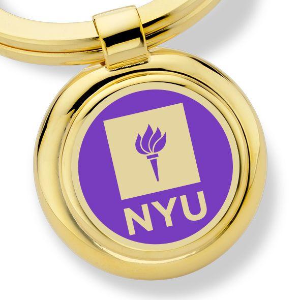 New York University Enamel Key Ring - Image 2
