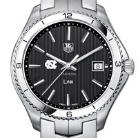 UNC TAG Heuer Men's Link Watch with Black Dial