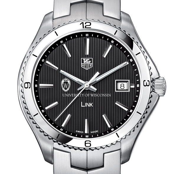 Wisconsin TAG Heuer Men's Link Watch with Black Dial