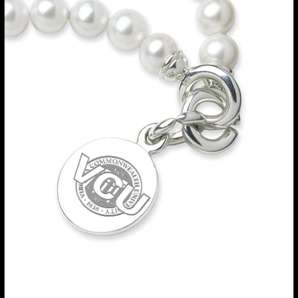 VCU Pearl Bracelet with Sterling Silver Charm - Image 2