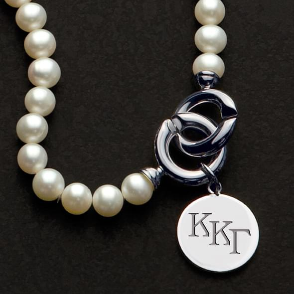 Kappa Kappa Gamma Pearl Necklace with Sterling Silver Charm - Image 2
