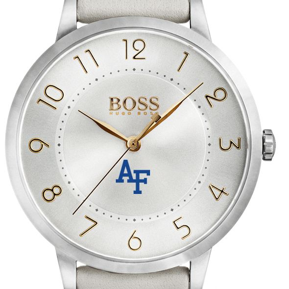 US Air Force Academy Women's BOSS White Leather from M.LaHart
