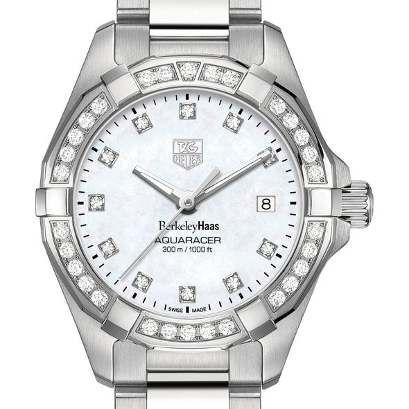 Berkeley Haas Women's TAG Heuer Steel Aquaracer with MOP Diamond Dial & Bezel
