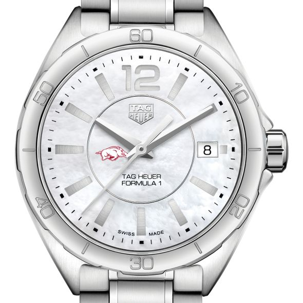 University of Arkansas Women's TAG Heuer Formula 1 with MOP Dial - Image 1