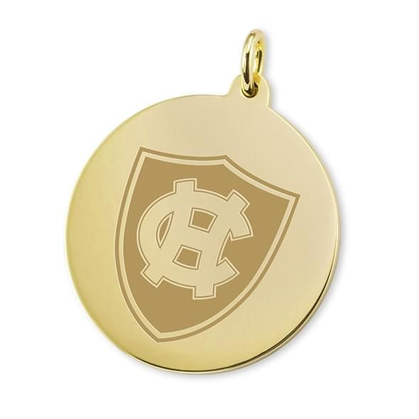 Holy Cross 18K Gold Charm - Image 1